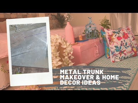 home decor ideas with decorative metal trunk ll DIY decorative metal trunk