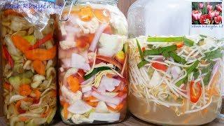 DƯA CHUA / DƯA MÓN và DƯA GIÁ - Cách làm 4 món Dưa chua - Dưa ngâm nước Mắm - Món Tết by Vanh Khuyen