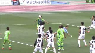 左からのコーナーキックをゴールキーパーが触るも、こぼれ球を菊地 俊介...