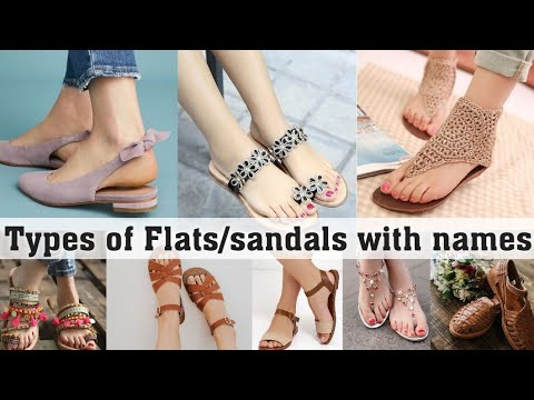 Types of flats/sandals with names for girls and women||THE TRENDY GIRL