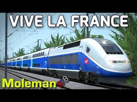 Vive La France! | TS2016 | SNCF TGV Duplex | LGV: Marseille - Avignon