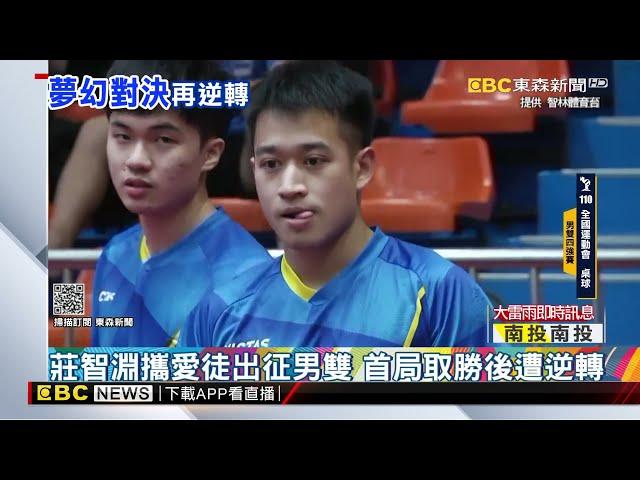 頂尖對決再度登場! 林昀儒退莊智淵摘男雙金牌@東森新聞 CH51