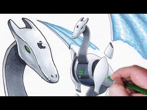 Download video character design the apple idragon for Draw with jazza mural