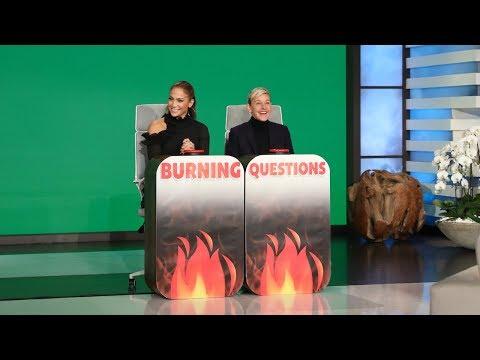 Jennifer Lopez Answers Ellen's 'Burning Questions'