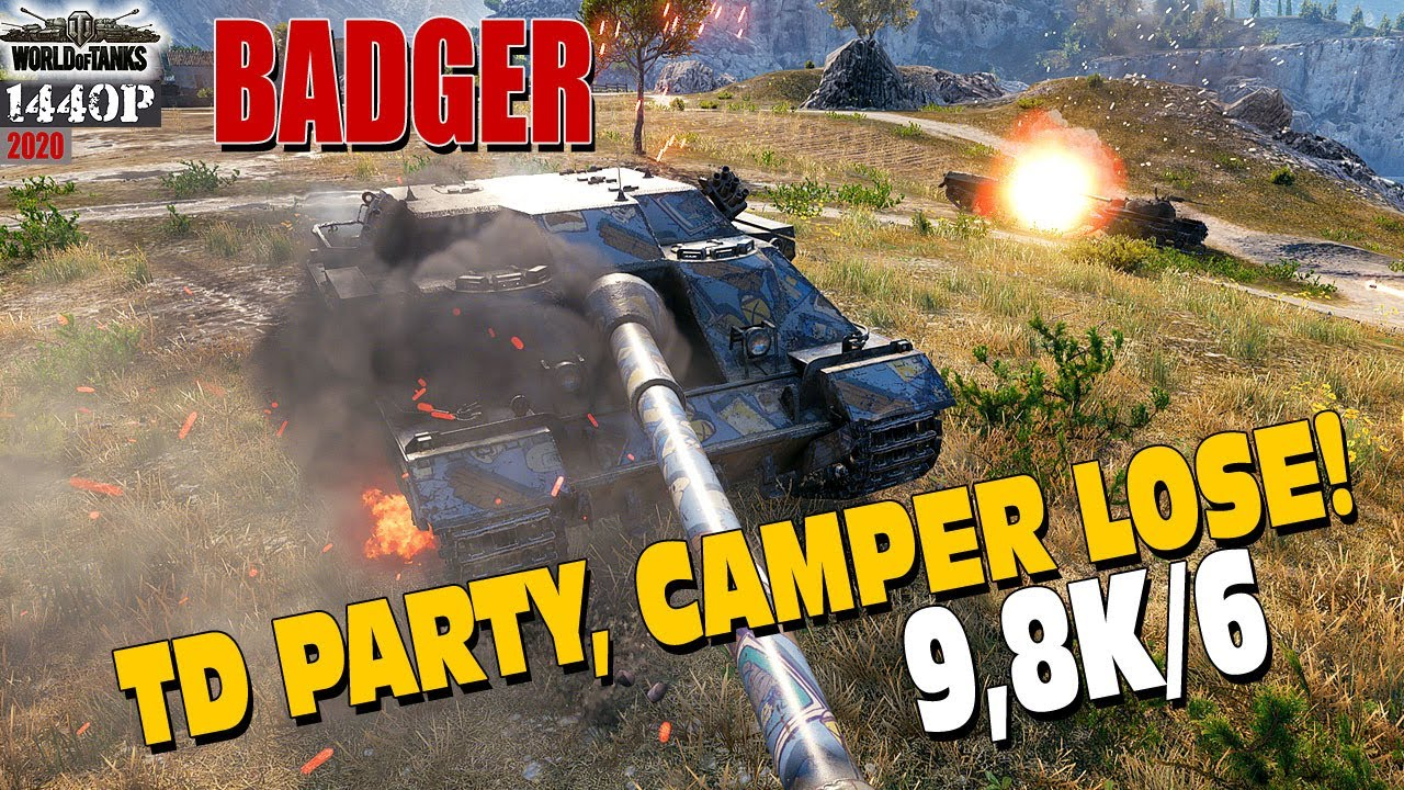 FV217 Badger: TD party, camper lose!