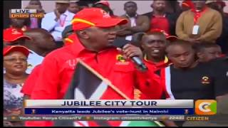 VIDEO: Kenyatta woo Nairobians to Jubilee for October 17 repeat poll