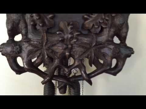 Rare Black Forest Musical Cuckoo Clock with Bear Motif