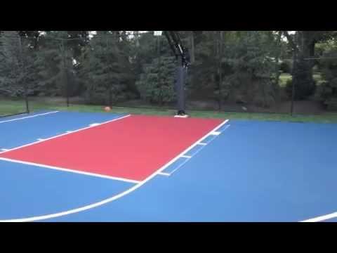 Asphalt Basketball Court w/ Tennis Court Finish