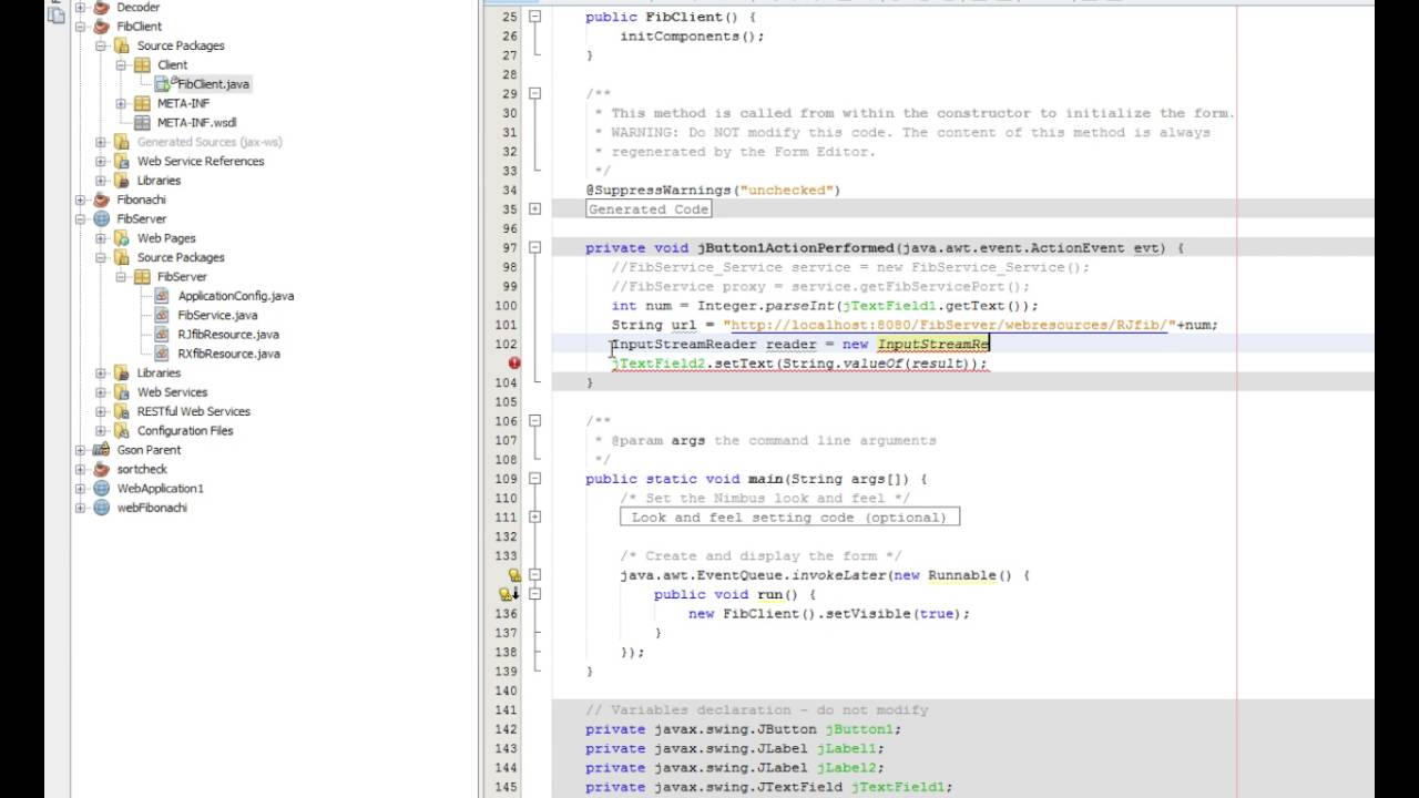 How to consume a RESTful web service in netBeans (json)