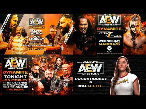 AEW DYNAMITE 2020 REMAKE PACK (Match Card V.1 And V.2,Preview & #ALLELITE) PSD & PARTES BY Jika