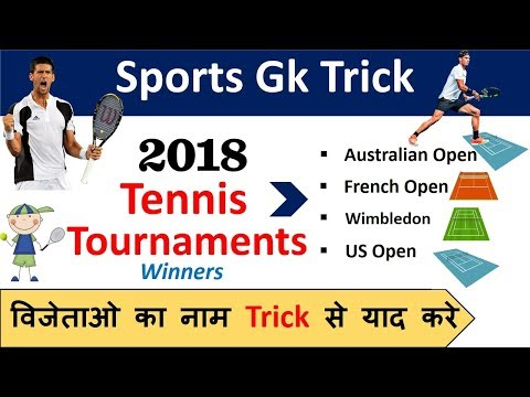 Sports Gk Trick : 2018 Grand Slam Tennis Tournament Winners
