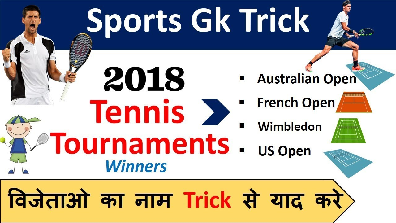 Sports Gk Trick 2018 Grand Slam Tennis Tournament Winners Youtube