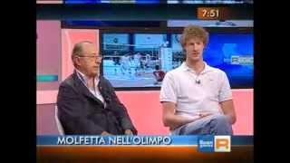 13-05-2013: Molfetta in Tv. Il presidente Antonaci e Kay Van Dijk ospiti su Rai3