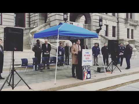 Massachusetts State Representative Daniel Donahue Speech on Finding Public Transportation at Rally