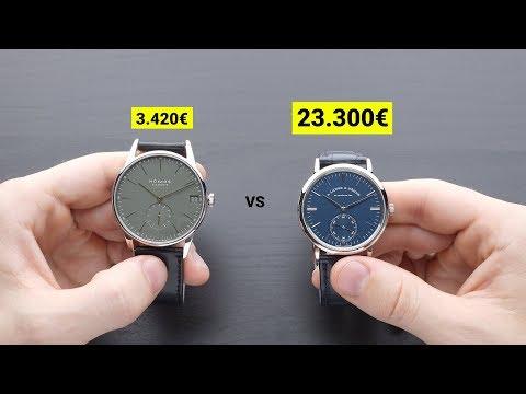 3.420€ NOMOS Vs. 23.300€ A. Lange & Söhne | WATCHVICE