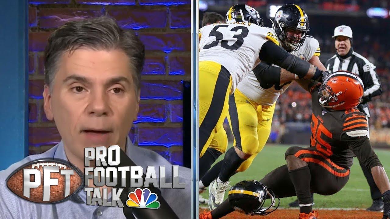 Pittsburgh Steelers react to Myles Garrett, TNF brawl | Pro Football Talk | NBC Sports