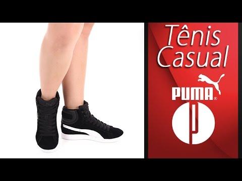 368d102de48 Tênis Casual Feminino Puma Vikky Mid - 7240155312 - YouTube