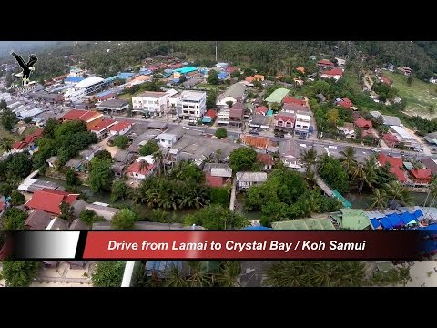 Drive from Lamai to Crystal Bay / Koh Samui / overflown with my drone