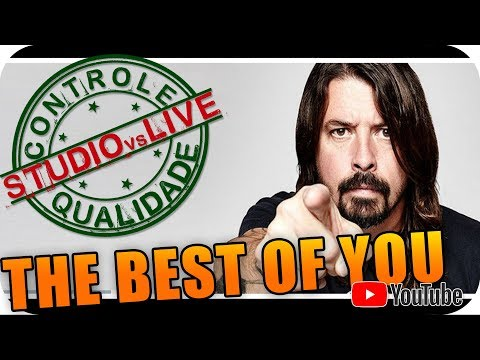 DAVE GROHL Studio Vs Live CONTROLE DE QUALIDADE DRIVE VOCAL FOO FIGHTERS  Hard Rock Grunge