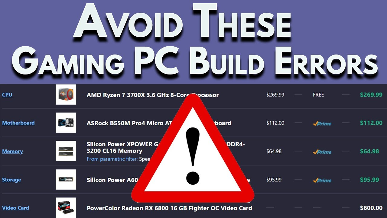⚠️AVOID⚠️ These Common PC Build Mistakes!   Boost My PC Build
