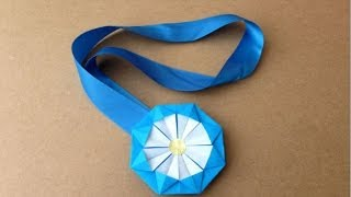 簡単折り紙★ メダルの折り方 ★1枚|Origami Medal thumbnail