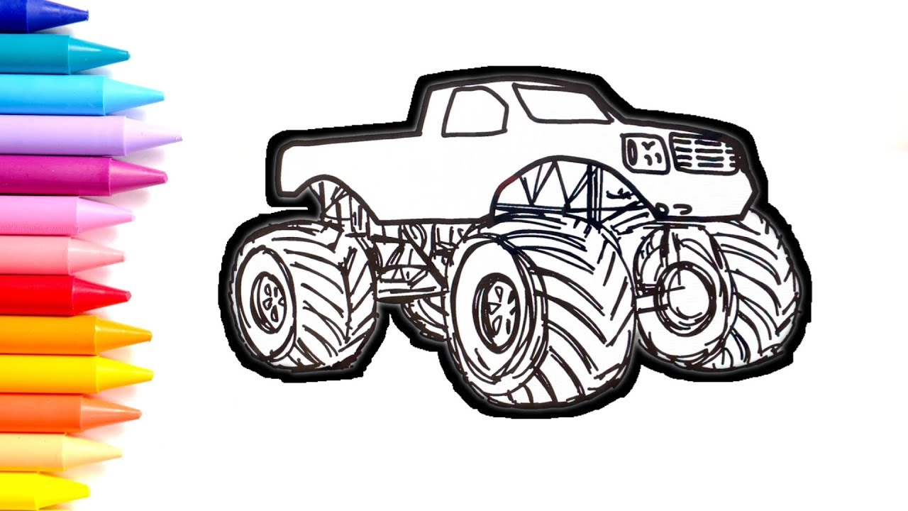 Wonderful Image of Trucks Coloring Pages | Monster truck coloring ... | 720x1280