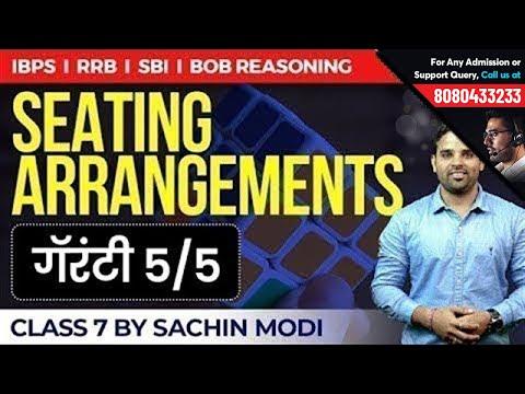 Seating Arrangement   Reasoning by Sachin Modi   Class 7   RRB, SBI, BoB & IBPS Exams