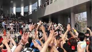 2012.4.29 ダイバーシティ東京(ガンダムの横)で行われた、しず風&絆...