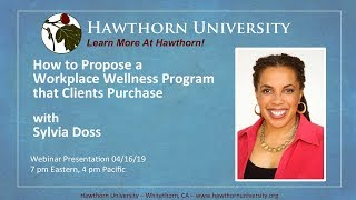 How to Propose a Workplace Wellness Program that Clients Purchase with Sylvia Doss