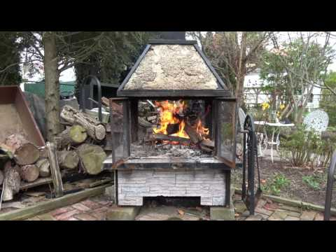 3 Hour Patio Fireplace Video