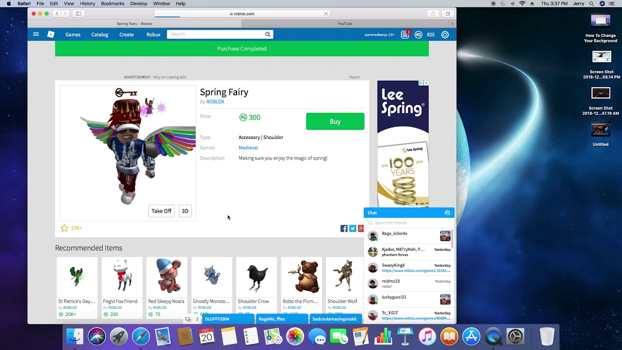 Purchasing The Roblox Spring Fairy Roblox Jailbreak Robux - purchasing the roblox spring fairy roblox jailbreak robux