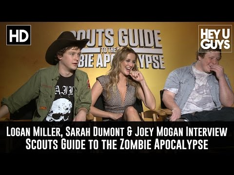 Logan Miller, Sarah Dumont & Joey Morgan Exclusive   Scouts Guide to the Zombie Apocalypse
