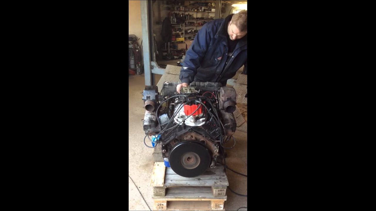 hight resolution of v8 chevy 305 engine start and run