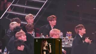 170119 BTS reaction to MAMAMOO - You're the Best - Decalcomanie in SMA 2017