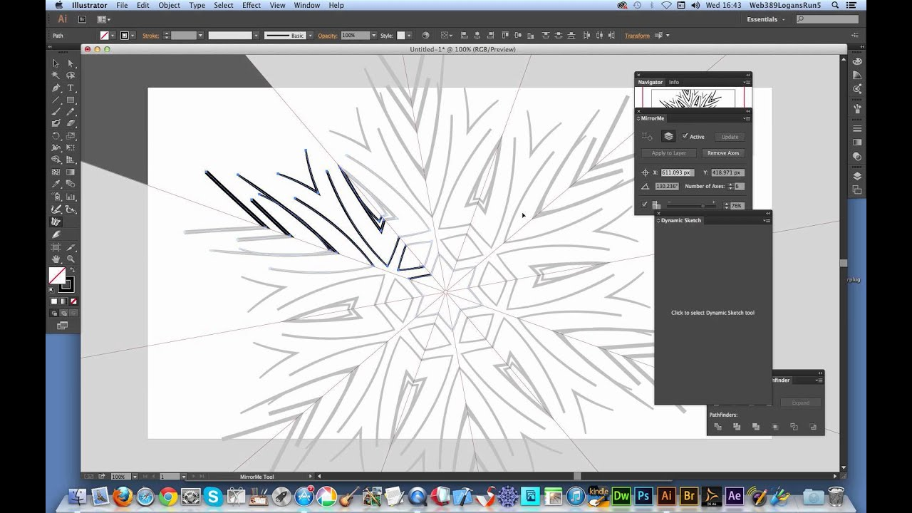Mirrorme and dynamic sketch plugins in Illustrator