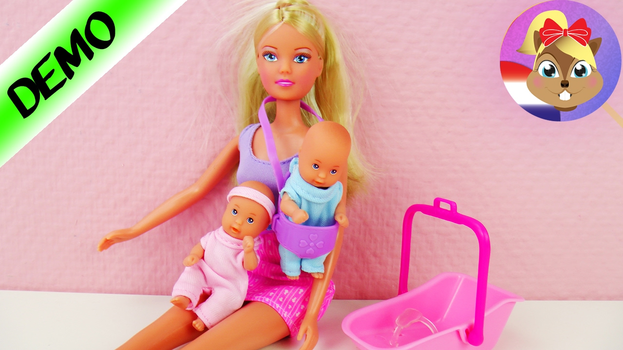 Babysitter Steffi Love Pop Met Twee Babys Barbiepoppen