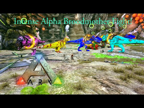 Ark: Almost Died! Alpha Broodmother fight! Official Server Boss Fight! - Ark Survival Evolved Boss !