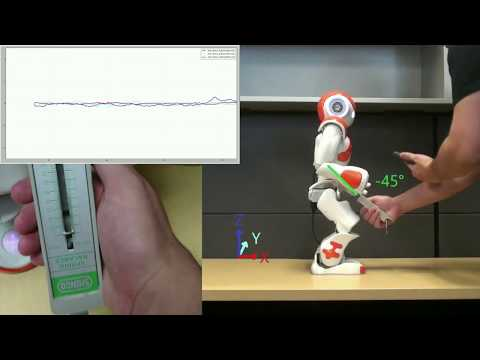 Kalman Filter Based Observer for an External Force Applied to Medium-sized Humanoid Robots