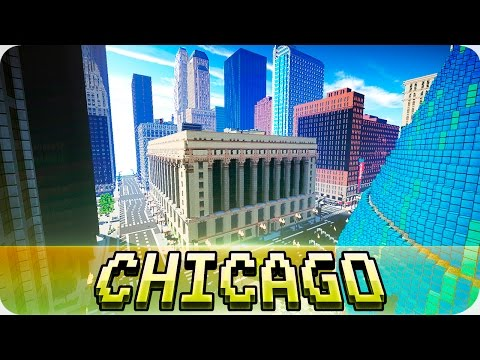 Minecraft - Chicago City Loop in Minecraft - Cinematic & Map Download