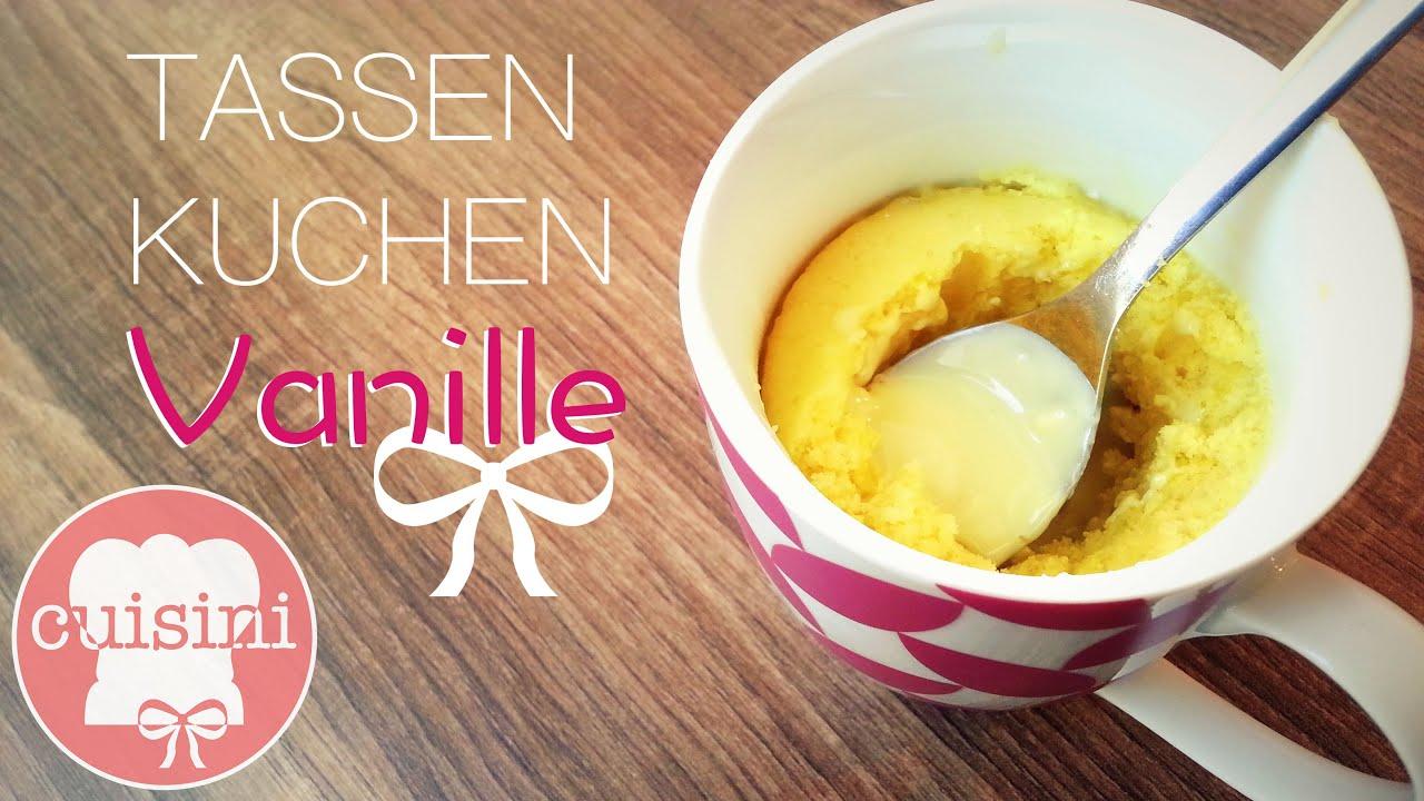 Tassenkuchen Vanille Mit Flussigem Kern Ohne Ei Mikrowellen
