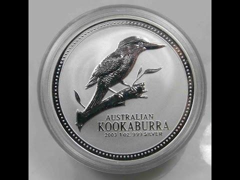 Australia 1 Dollar Kookaburra 2003 Silver Bullion Coins
