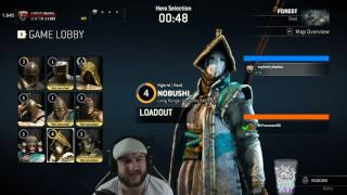 For Honor - Nobushi vs Beserker - REALLY HIGH LEVEL FIGHTS! GREAT OPPONENT!