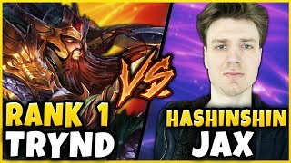 #1 TRYNDAMERE WORLD MURDERS HASHINSHIN IN HIGH-ELO (WORST JAX WORLD) - League of Legends