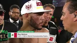 Post-Fight Interview: Ray Beltran