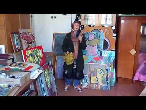 Волинські Новини: Відеопривітання Олени Бурдаш з Днем художника