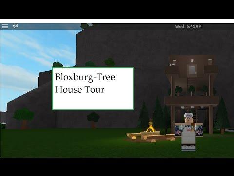 Bloxburg Tree House Tour Youtube