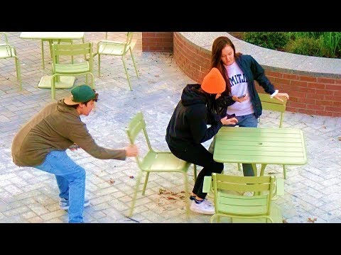 Chair Pulling Prank in College Campus!
