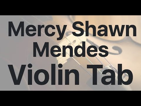 Learn Mercy Shawn Mendes on Violin - How to Play Tutorial
