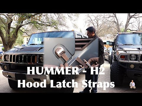 How To Replace HUMMER Hood Latch Rubber Straps | Upgrade H2 HUMMER Hood Latch