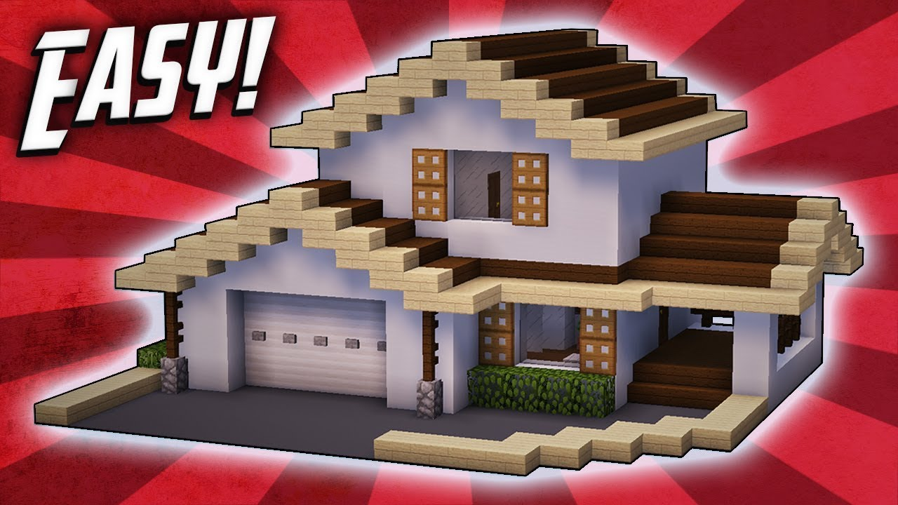 Minecraft how to build a suburban house tutorial 3 rizzial